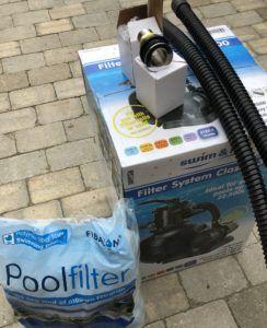 Sandfilter inkl filter kugler